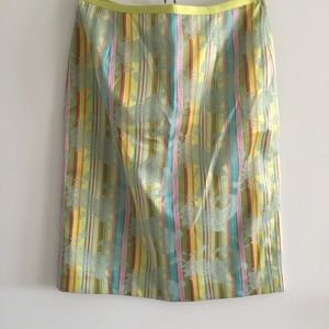 {new} Cynthia Steffe multi colored striped skirt